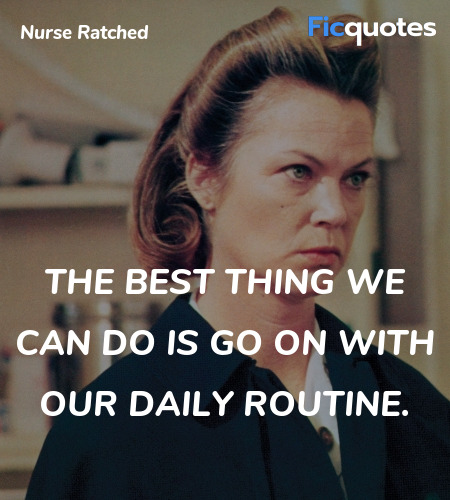 The best thing we can do is go on with our daily routine. image