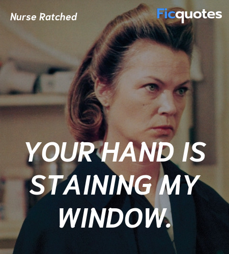 Your hand is staining my window. image