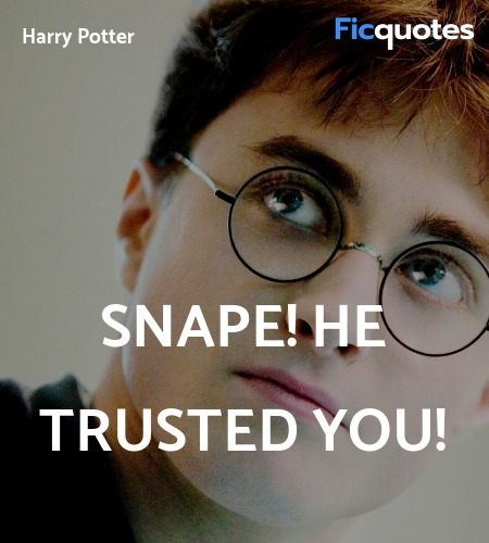 Snape! He trusted you! image