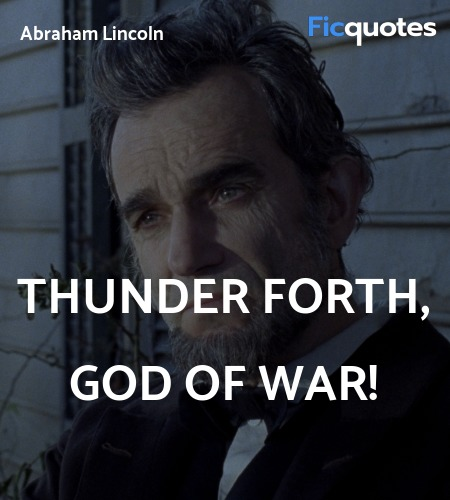 Thunder forth, God of War quote image