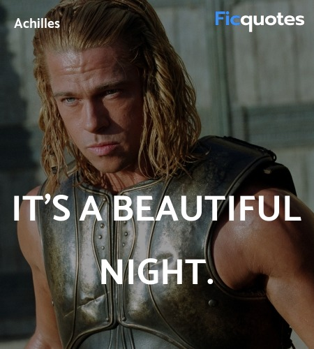 It's a beautiful night quote image