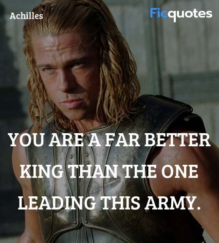 You are a far better king than the one leading ... quote image