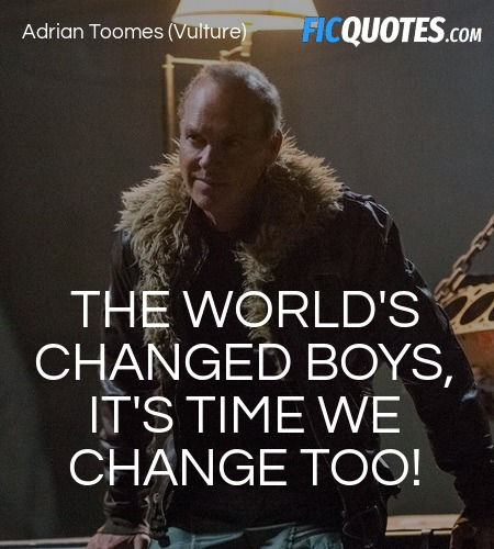 The world's changed boys, it's time we change too! image