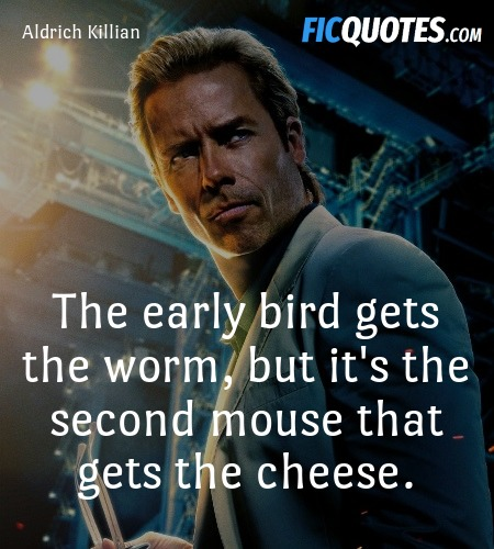 The early bird gets the worm, but it's the second ... quote image