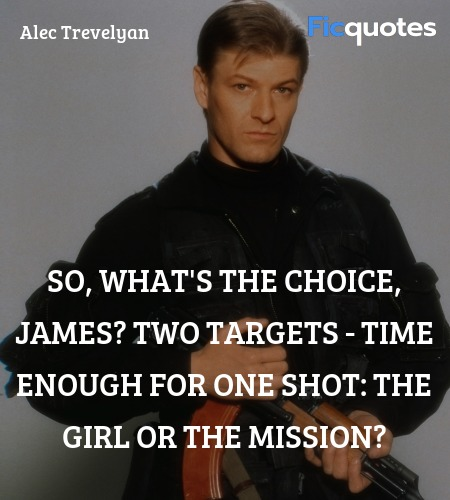 So, what's the choice, James? Two targets - time ... quote image