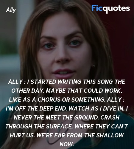 Ally : I started writing this song the other day. Maybe that could work, like as a chorus or something.