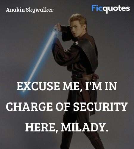 Excuse me, I'm in charge of security here, milady... quote image