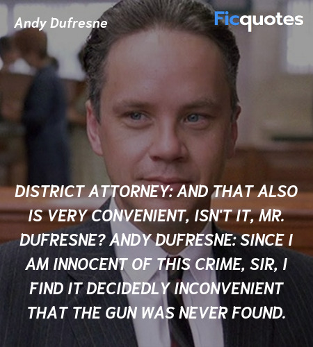 Since I am innocent of this crime, sir, I find it ... quote image