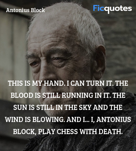 This is my hand. I can turn it. The blood is still... quote image