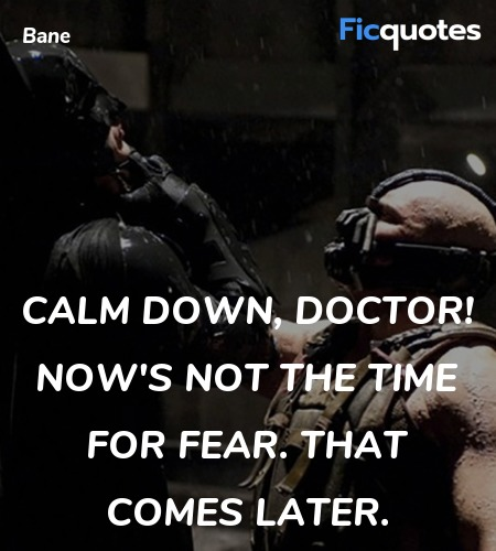 Calm down, Doctor! Now's not the time for fear. That comes later. image