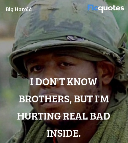 I don't know brothers, but I'm hurting real bad ... quote image
