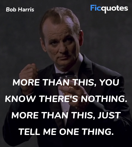More than this, you know there's nothing. More ... quote image