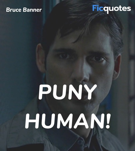 Puny human quote image