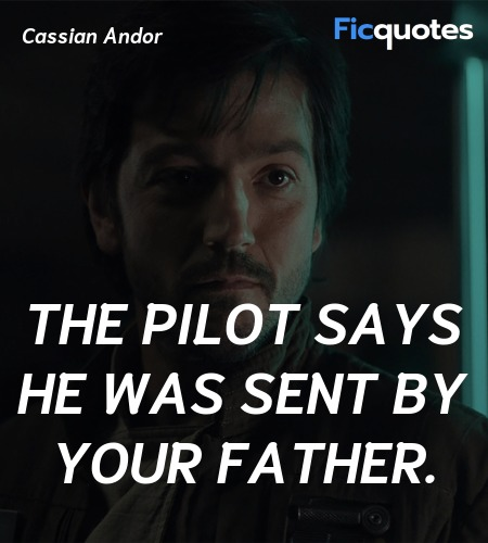 The pilot says he was sent by your father. image