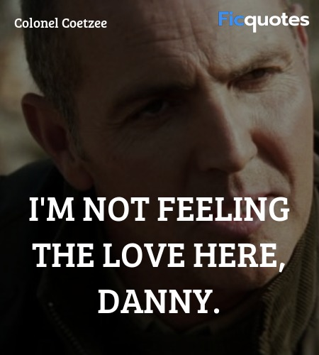 I'm not feeling the love here, Danny quote image