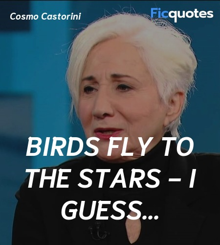 Birds fly to the stars - I guess quote image