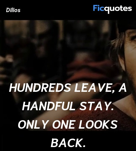 Hundreds leave, a handful stay. Only one looks ... quote image