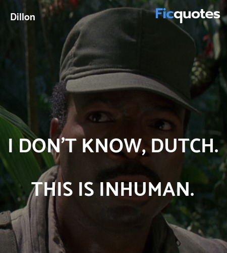 I don't know, Dutch. This is inhuman. image