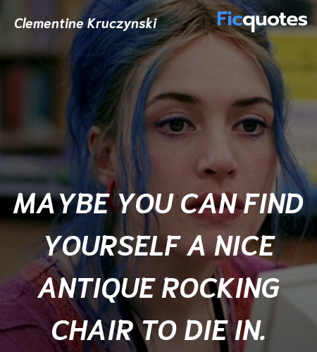 Maybe you can find yourself a nice antique ... quote image