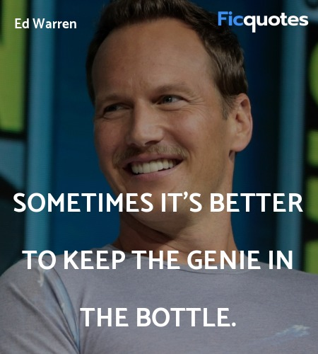 Sometimes it's better to keep the genie in the bottle. image