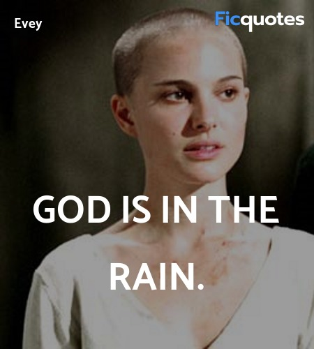 God is in the rain quote image