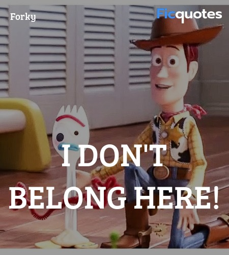 I don't belong here quote image