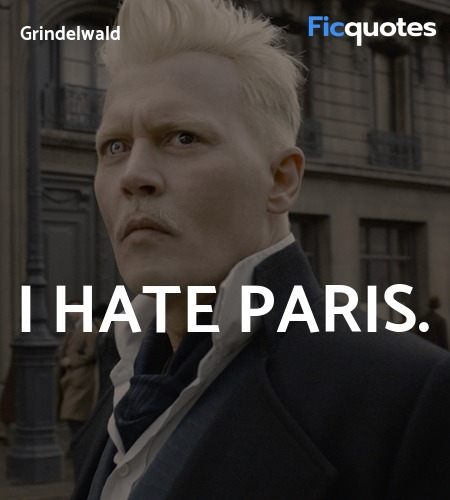 I hate Paris quote image