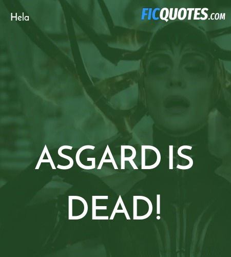 Asgard is dead quote image