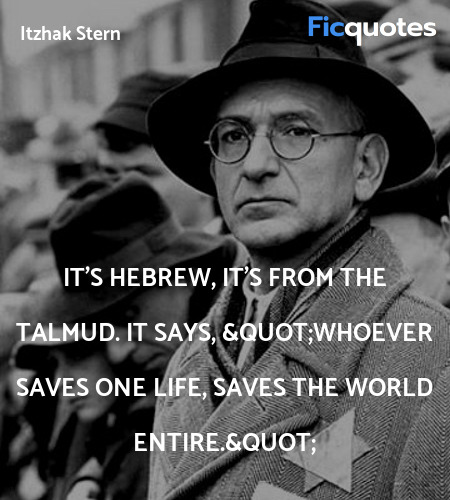 It's Hebrew, it's from the Talmud. It says,