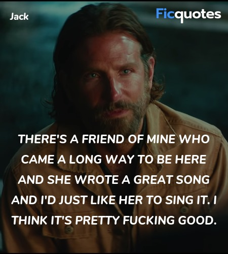 There's a friend of mine who came a long way to ... quote image