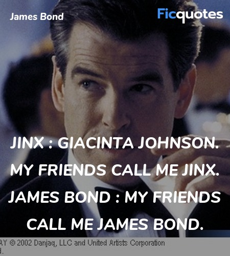 Jinx : Giacinta Johnson. My friends call me Jinx.