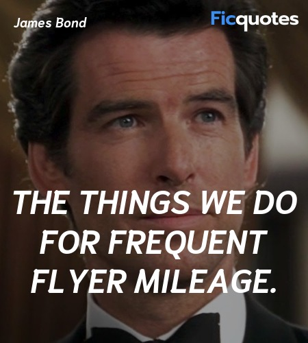 The things we do for frequent flyer mileage... quote image