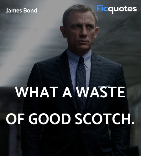 What a waste of good scotch quote image