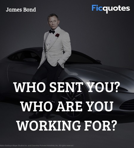 Who sent you? Who are you working for? image