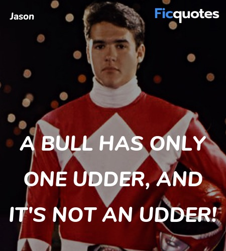 A bull has only one udder, and it's NOT an udder! image
