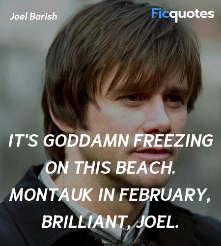 It's goddamn freezing on this beach. Montauk in ... quote image