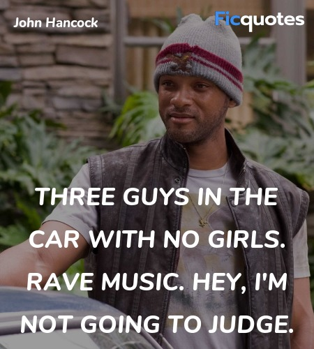 Three guys in the car with no girls. Rave music. Hey, I'm not going to judge. image