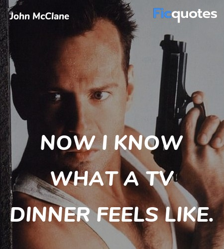 Now I know what a TV dinner feels like quote image