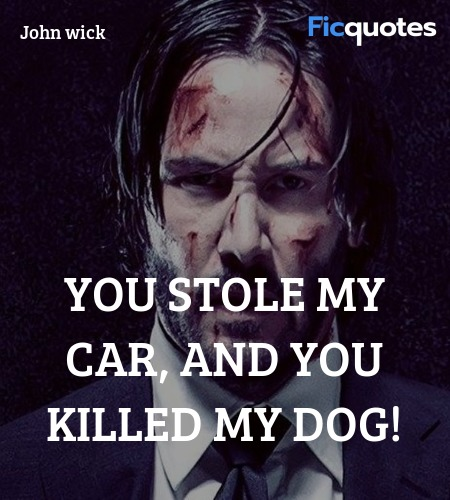 You stole my car, and you killed my dog quote image