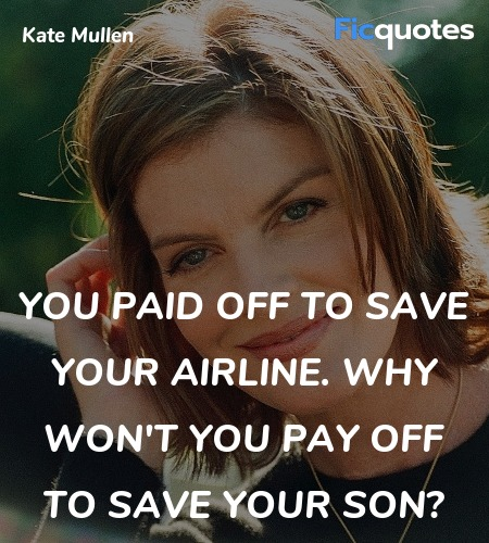 You paid off to save your airline. Why won't you pay off to save your son? image