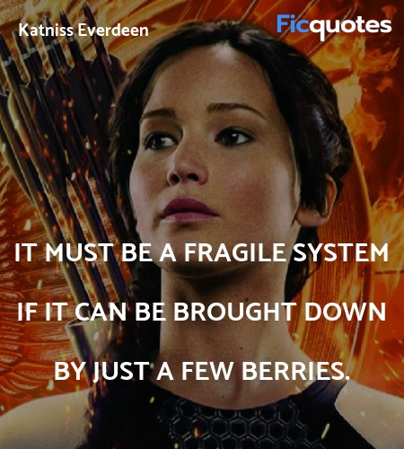It must be a fragile system if it can be brought down by just a few berries. image