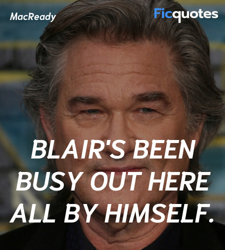 Blair's been busy out here all by himself. image