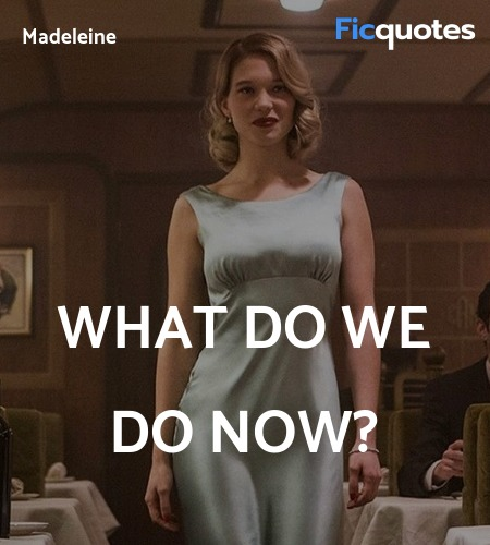 What Do We Do Now Spectre 2015 Quotes