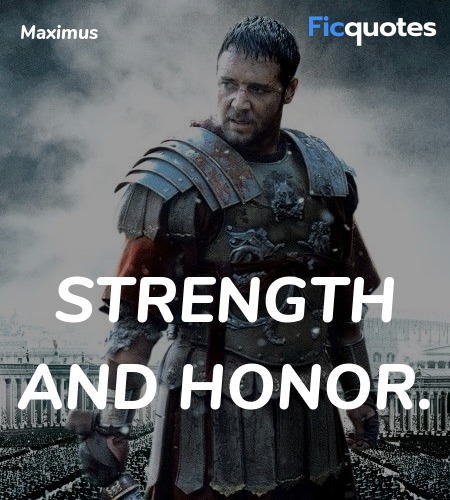 Strength and honor quote image