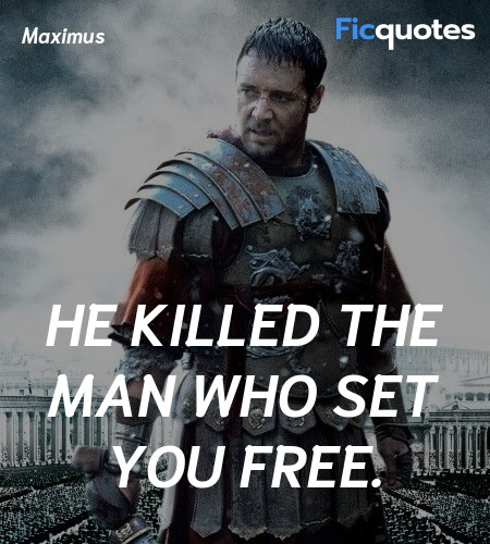 He killed the man who set you free quote image