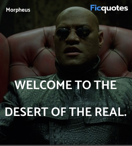 Welcome to the desert of the real quote image