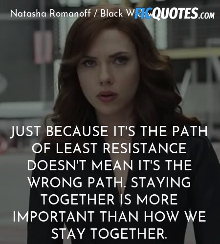 Just because it's the path of least resistance ... quote image