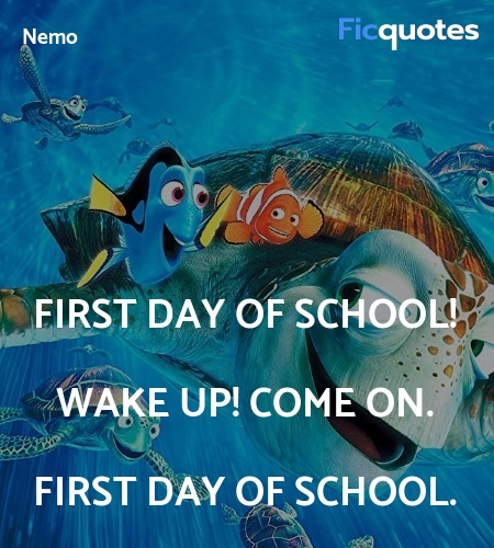 First day of school! Wake up! Come on. First day of school. image