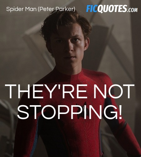 They're not stopping quote image