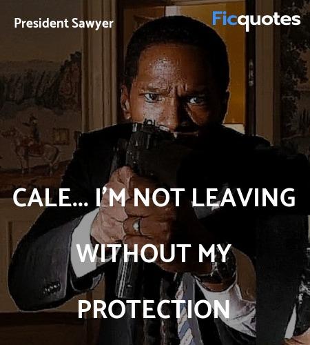 Cale... I'm not leaving without my protection... quote image